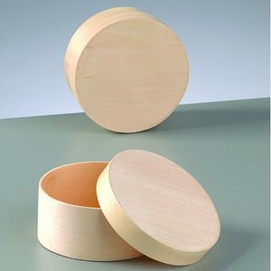 Plywoodask ø 82 mm H 40 mm - obehandlat rund