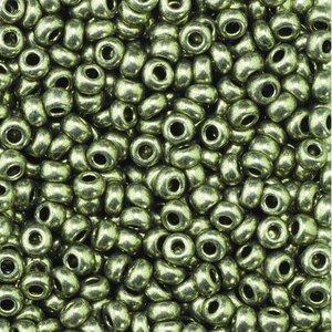 Rocaillespärlor metallic - grå