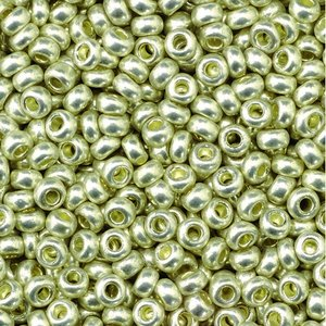 Rocaillespärlor metallic - silver