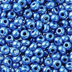 Rocaillespärlor opal - denimblå