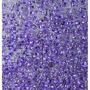 Rocaillespärlor silverlinjerade - violett