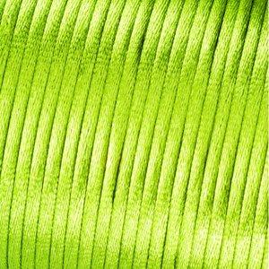 Satinsnöre 2 mm - 50 meter - ljusgrön