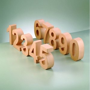 Siffror PappArt - H 10 x D 3 cm