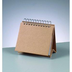 Skrivbordskalender 17 x 15 cm - brun 12 sidor