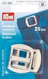 Sleifspännen stål silverfärg 20 mm 2 st