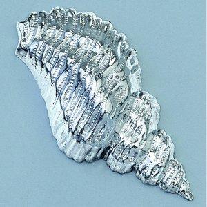 Smycke 15 x 32 mm - silverfärgad skal