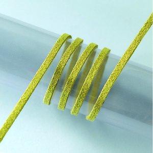 Snöre mockaimitation / alcantara 3 mm / 3 m - olivgrön