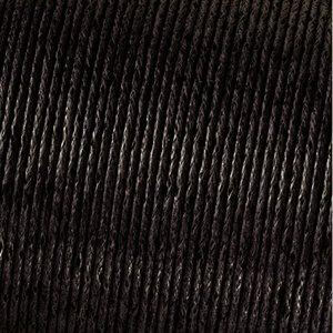 Snöre vaxad bomull - mörkbrun