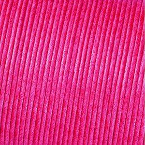 Snöre vaxad bomull - rosa