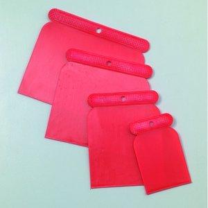 Spatelset 50 / 75 / 100 / 120 mm - röd plast