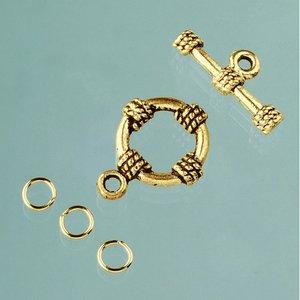 Stavlås ø 18 mm - åldrat guld 1 st