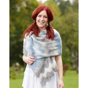 Stickmönster - Avlång sjal