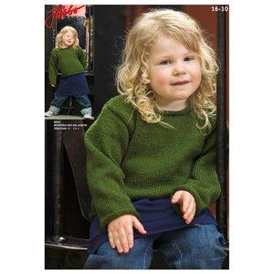 Stickmönster - Barntröja med rullkanter