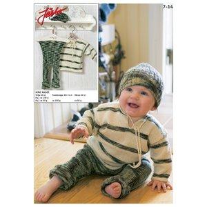 Stickmönster - Farfarströja med ribbstickade tights & matchande mössa