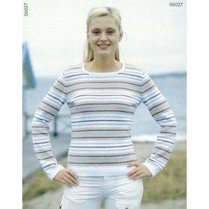 Stickmönster - finrandig tröja