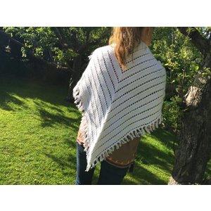 Stickmönster - Sjal med v-mönster