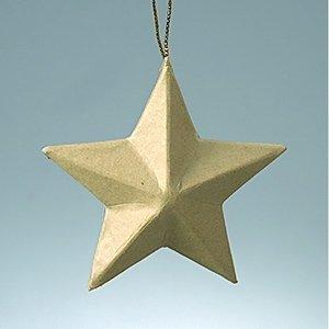 Stjärna av kartong ø 8 cm - 5 spetsig