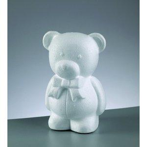 Styrolitform 20 cm - björn med rosett