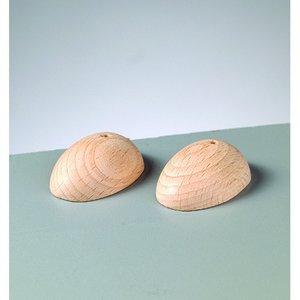 Träfötter 40 x 30 mm - obehandlat äggform