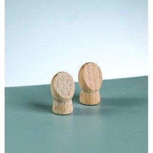 Trähänder L 18 x 10 mm - obehandlat 4 st. 5 mm borrhål