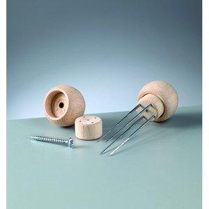 Trähandtag för 4 filtnålar - 1 st. 3 omonterade delar