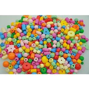 Träpärlor 250 g pastell