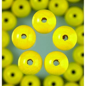 Träpärlor - gul