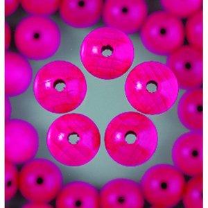 Träpärlor - ljust rosa