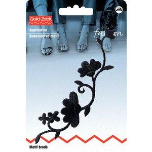 Tygmärke Blomstjälk svart