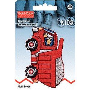 Tygmärke Lastbil röd