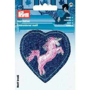 Tygmärke Märke hjärta med enhörning
