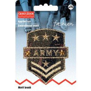 Tygmärke Militär Army vapensköld khaki