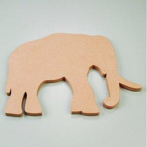 Väggskylt 50 x 35 x 2 cm - elefant