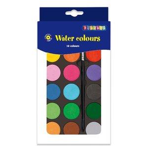 Vattenfärgspalett