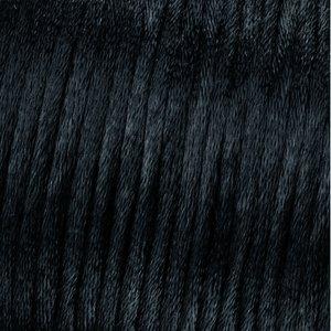 Vävtråd satin - svart