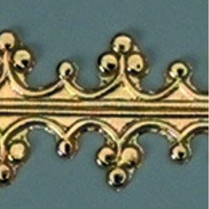 Vaxdekoration bård 240 x 15 mm - guld briljant Kunglig trim