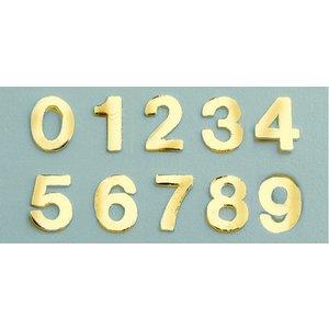 Vaxdekoration nummer blandning 8 mm - guld briljant 0-9