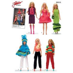 Virkmönster - Barbiekläder i mini eller baby pascal