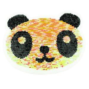 Paljettmärke Vändbart - Panda Multi