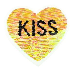 Paljettmärke Vändbart - Heart Kiss
