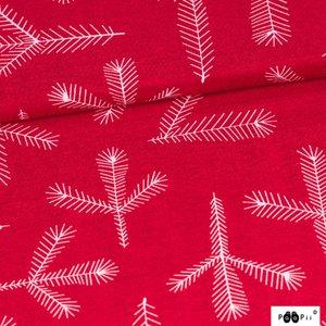 P a a P i i Mönstrad Trikå 160 cm - Havu (Röd)