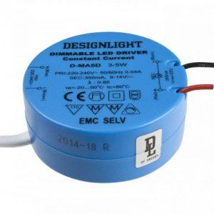 350mA LED transformator > tak/kopplingsdosa (Blå)