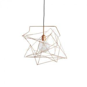 Asymmetric taklampa komplett (Koppar)