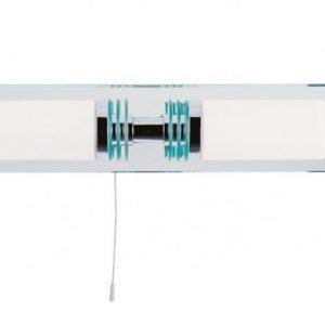 Badrumslampa m. spegelfäste (Förkromad/blank)