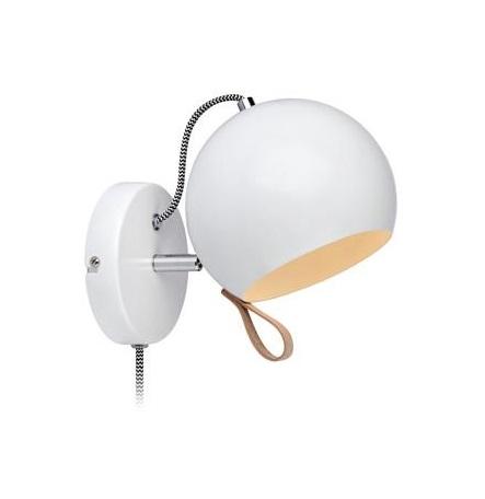 Ball vägglampa (Vit)
