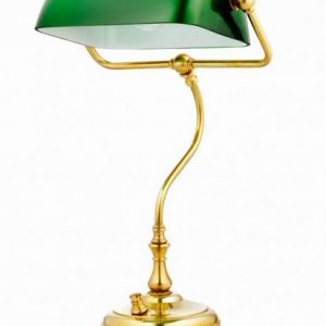 Bankir bordlampa (Mässing/guld)