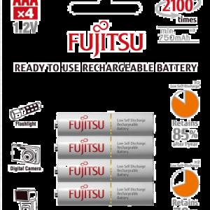 Batteri AAA Uppladdningsbara 4-pack
