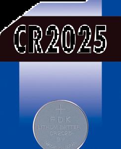 Batteri knapp CR2025 1-pack