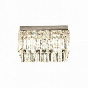 Belissa kristallplafond fyrkant (Förkromad/blank)