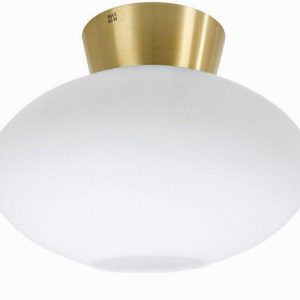 Bullo plafond opal/mässing (Mässing/guld)